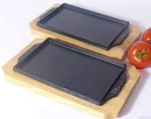 Rectangle Steak <strong>Plate</strong> Korean Pan Cast Iron Sizzler <strong>Plate</strong>