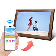 Wood Frame IPS WIFI <strong>Android</strong> IOS APP 10.1 inch 32 inch Digital Photo Frame