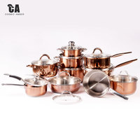 Cooking Pot Cookware Stainless Steel Straight Set Metal Box Logo Item Packing Stove Master Color