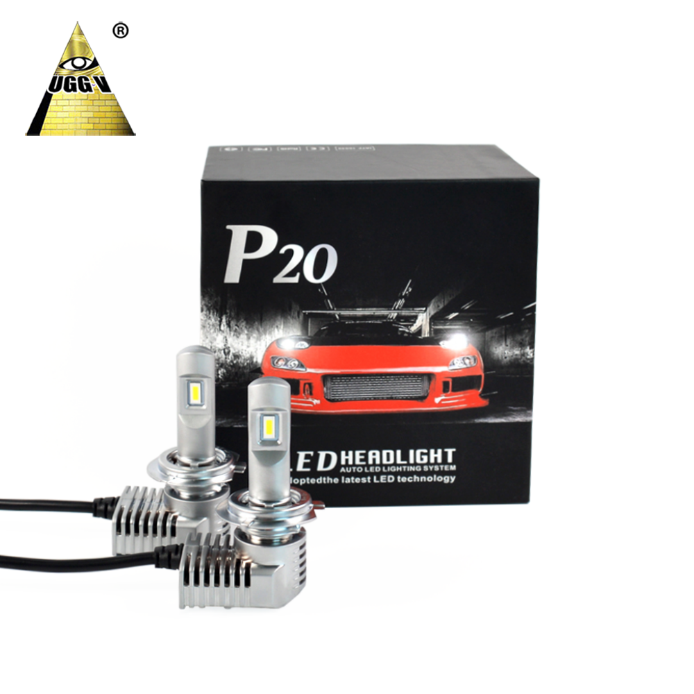 Focos LED Para <strong>Auto</strong> P20 70W P20 11600LM Brighter H7 led headlight H1 H11 H8 H9 <strong>H10</strong> 9005 9006
