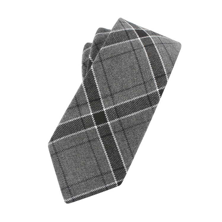 100% Cotton Green Ties Woven Checkered Pattern Mens Neck Tie