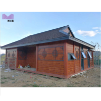 log cabins prefabricated wooden color house