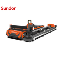 Large Area Cutter 1530 Raycus Metal 500W 1000W 2000W Fiber Laser Cutting Machine For Steel pipe