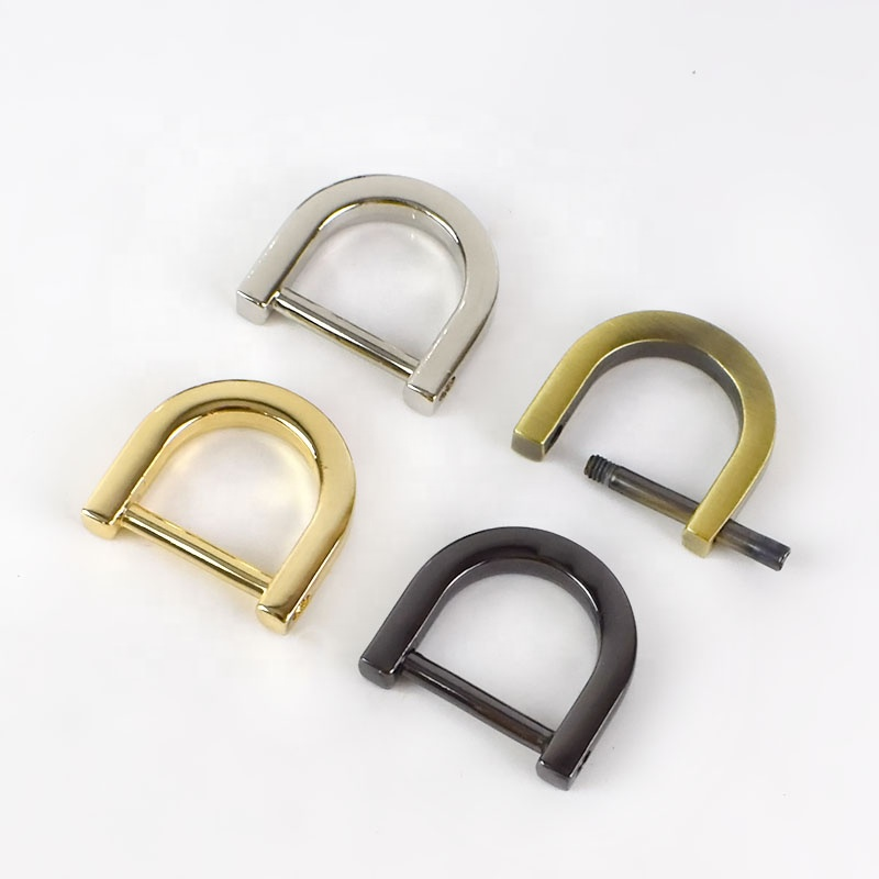 Meetee H6-3 1.0/1.3/1.5/2cm Metal Alloy <strong>D</strong> Ring Removable Screw Detachable Bag Parts Accessories Handbag Buckles