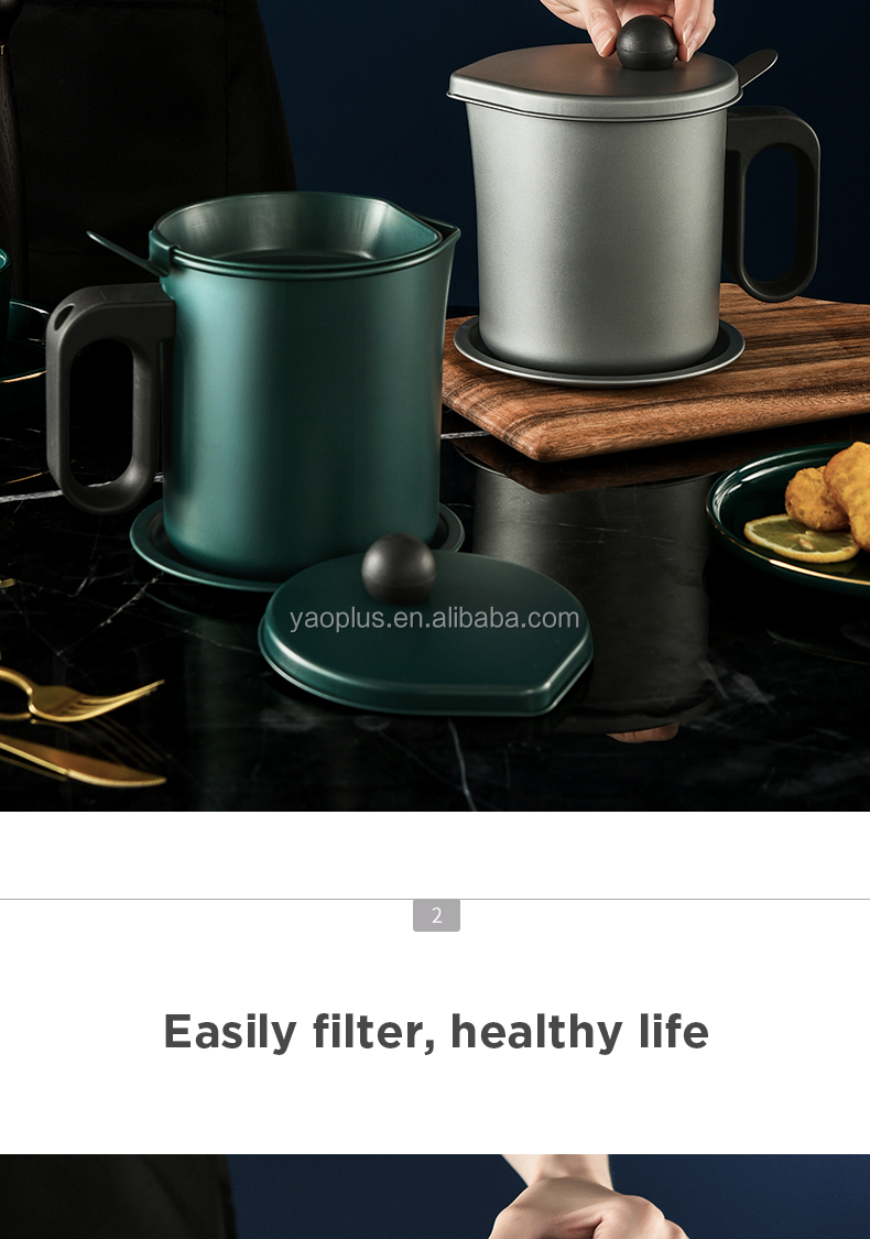 Oil pot with removable filter oil can