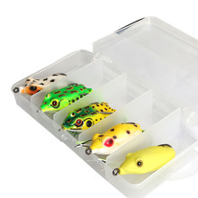 Artificial Topwater Hollow Frog Soft Fishing Lure