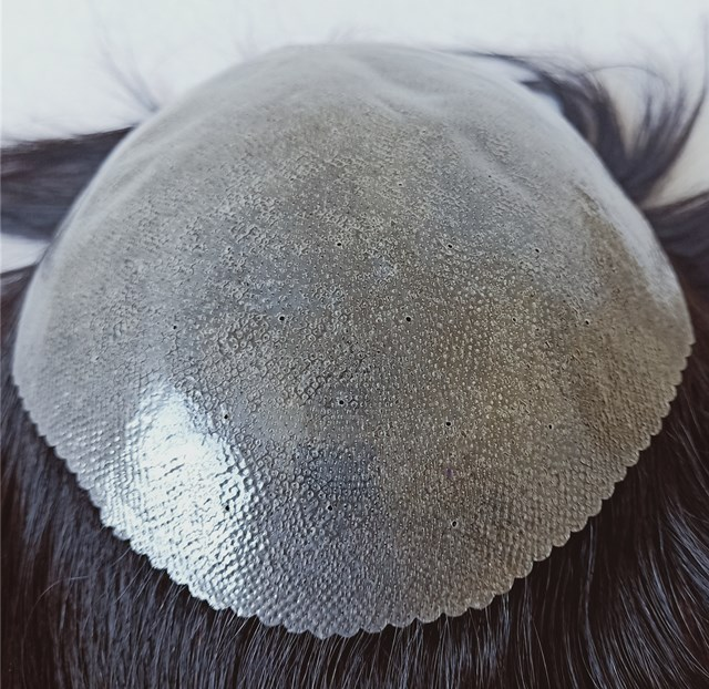 Factory stock bottom price remy human hair invisible thin skin base men's toupee