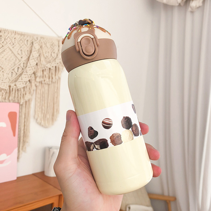 Zogifts Kids Sports Bottle 360ml Insulated Stainless Steel Water Bottle
