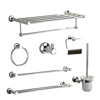 China cheap complete bathroom accessories stainless steel bath hardware Sets