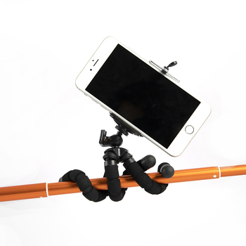Sunrise New Products Sponge Flexible Mini Octopus Camera Mobile Phone Tripod with Phone Holder