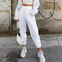 wholesale Plain Cotton Harem Plazzo Women Pants Streetwear Cargo Pants Loose Jogger Trousers Women 2020 Sweatpants