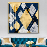 Factory price abstract square wall art decoration painting on canvas crystal painting artworks for home hotel office