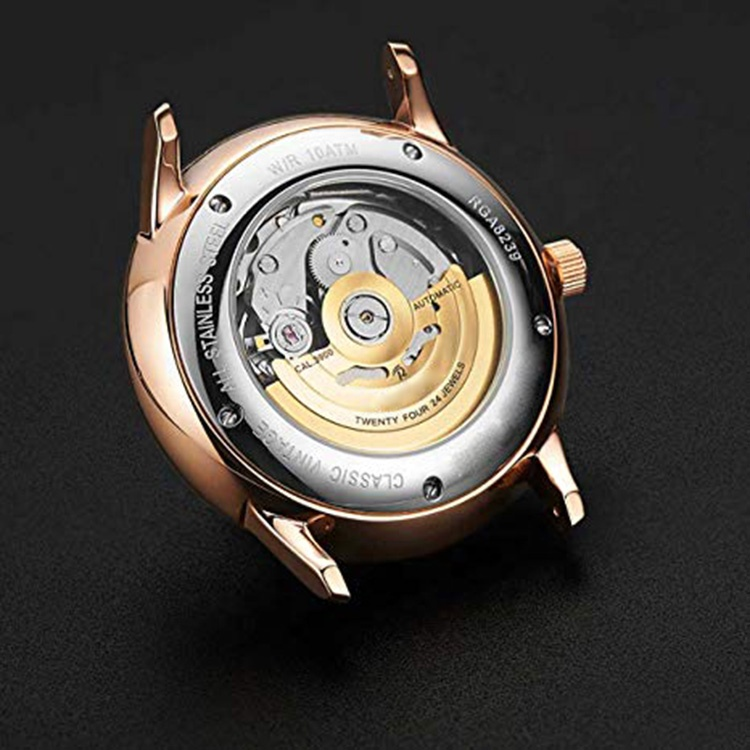 Mechanical Wristwatches Domed Glass Alligator Leather Strap Seiko NH39 Movement Automatic Watches Men Wrist