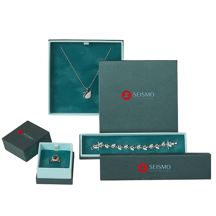 Fashion Luxury Custom Earring Jewelry Set Box For Necklace Ring Earring Box Gift Boxes
