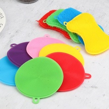 Kitchen Tool Hot Multipurpose Antibacterial Smart Sponge Cleaning Dish Universal Brush Silicone Wash Bowl Brushes