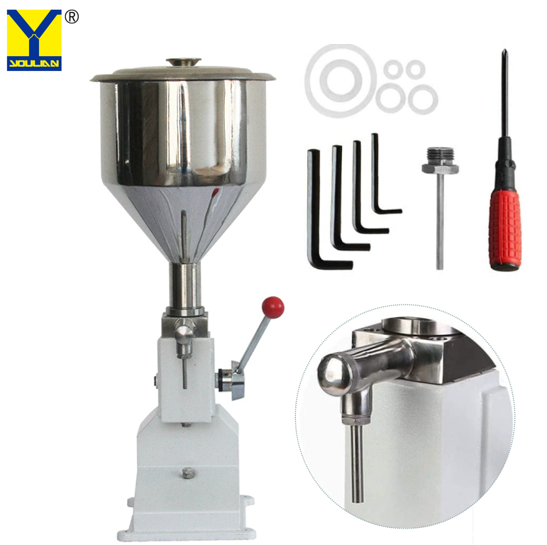 <strong>A03</strong> 5-50ml Manual Stainless Steel Paste and Liquid Bottle Filling Machine for Cream Shampoo Cosmetic