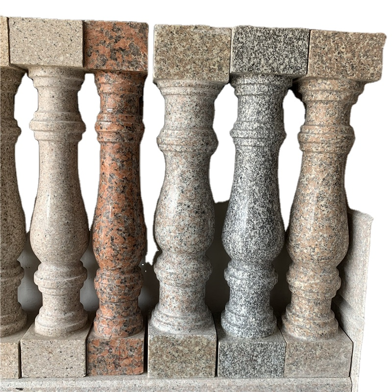 Balcony Baluster polished outdoor granite landscape Rail for stair case