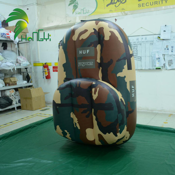 Army green Inflatable Backpack Model , Customized Inflatable Model For Sale