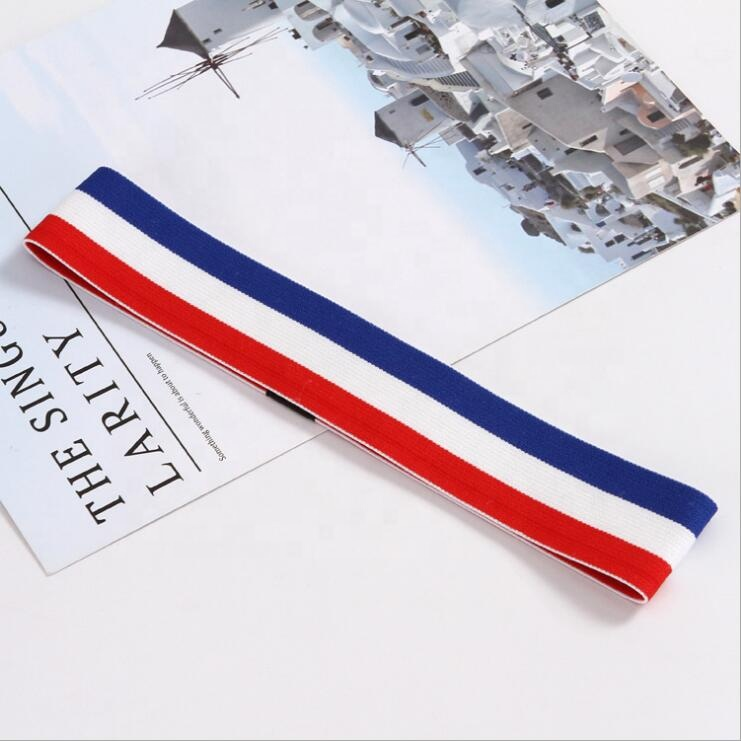 50MM Custom Design Multi Style Embroidery Jacquard Polyester Elastic Headband