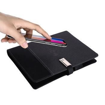 Logo Kustom All-In-One Planner Diary Jurnal A5 8 GB USB Flash Drive Power Bank Notebook untuk promo