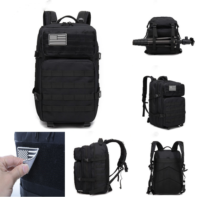 600D Oxford Molle Pouch Assault Pack Combat Military Tactical Backpack Trekking <strong>Bag</strong>