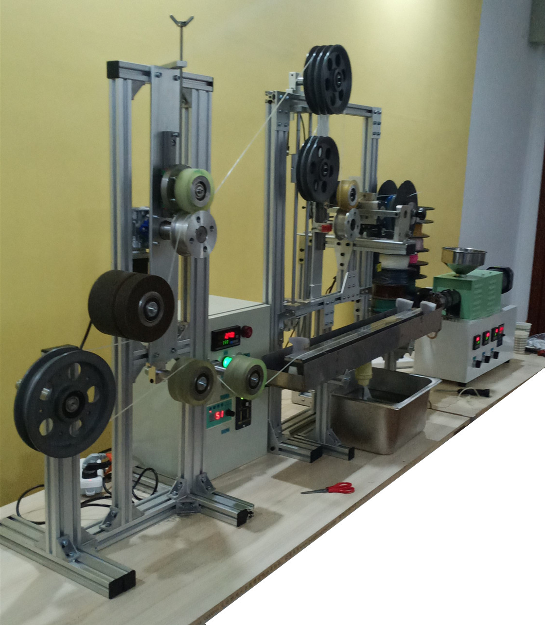SJ35 pla 3D filament machine small 3d printing production <strong>line</strong> peek 3d printing filament producton <strong>line</strong>