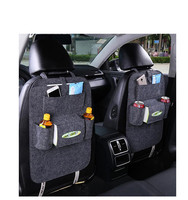 direct factory felt car back seat organizer multi-pocket travel storage bag