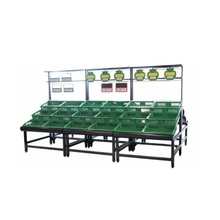 Manufacture Supermarket Equipment, Power Coated 3 Layer <strong>Fruit</strong>&amp;Vegetable Display Shelf Rack