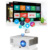 CAIWEI A3AB pocket mini projector 1800 lumens projector with android wifi bluetooth