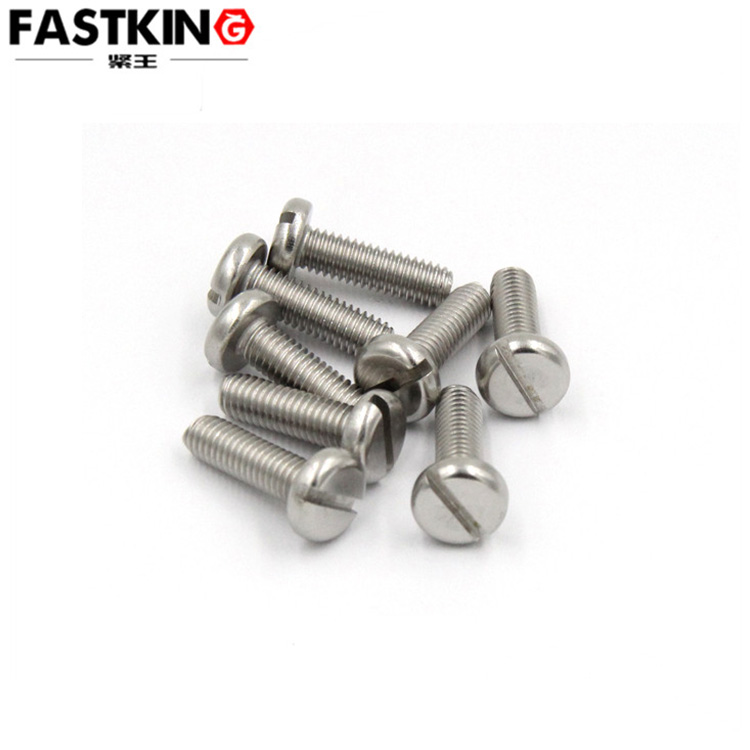 stainless steel 304 Slotted cheese head screws M1.6 M2 M2.5 M3 M4 M5 M6