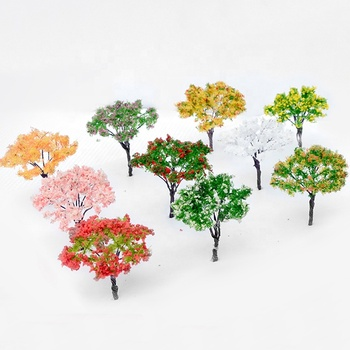 10pcs 6.5cm handmade new wire metal sponge flower miniature architectural building ho scale model train tree materials layouts