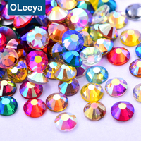 Wholesale 2028 Same Cut Factes Flatback Glass Non Hotfix Rhinestone Designs Nail Stones for Clothing Accessory