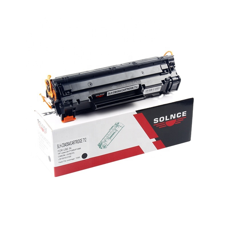 SOLNCE Factory wholesale HP 35A CB435A for HP LaserJet P1002 P1003 P1004 <strong>P1005</strong> P1005LP P1006 P1007 P1008 P1009 <strong>Toner</strong> Cartridge