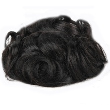 Quick Shipment Large Stock Hair Toupee #1B Natural Black Men Toupee Best Hair Wig For Men Unprocessed Hair <strong>Material</strong>