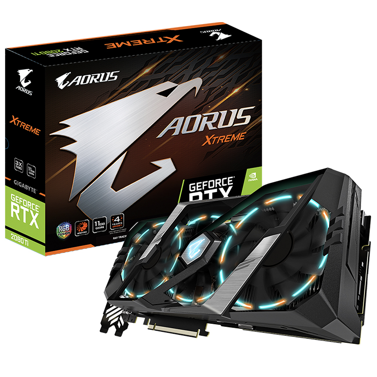 NVIDIA GIGABYTE AORUS GeForce RTX 2080 Ti XTREME 11G Integrated with 11GB GDDR6 352-bit Memory Interface Graphics Card