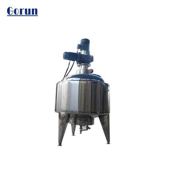 Anti-corrosive industrial mixing tank with agitator