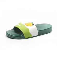 Rubber women indoor outdoor shoes 3D strawberry PVC slide sandals. candy color fruit style <strong>slippers</strong>