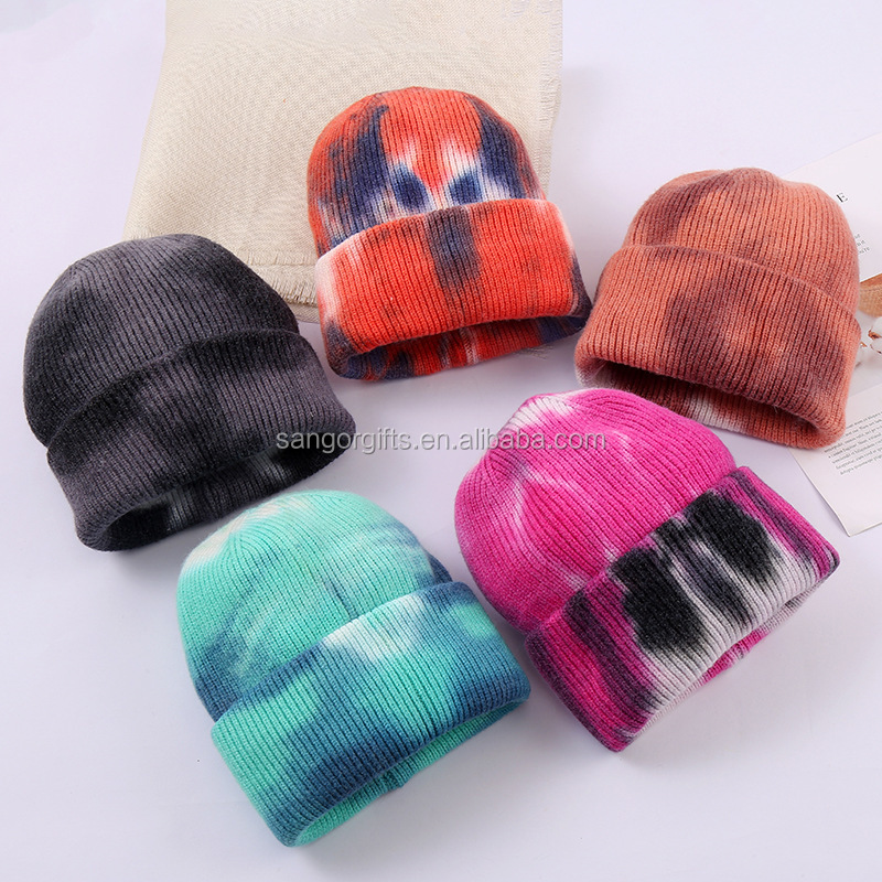 New Fashion Winter Tie-dye Beanie Hats