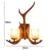 Wholesale handmade vintage sconce hanging light antique resin lamp industrial retro antler wall lamp for wedding decoration