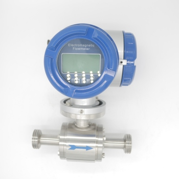 High Accuracy Steel Pipeline Electromagnetic Flow Meter Sanitary Grade Supplier For Digital Fluid