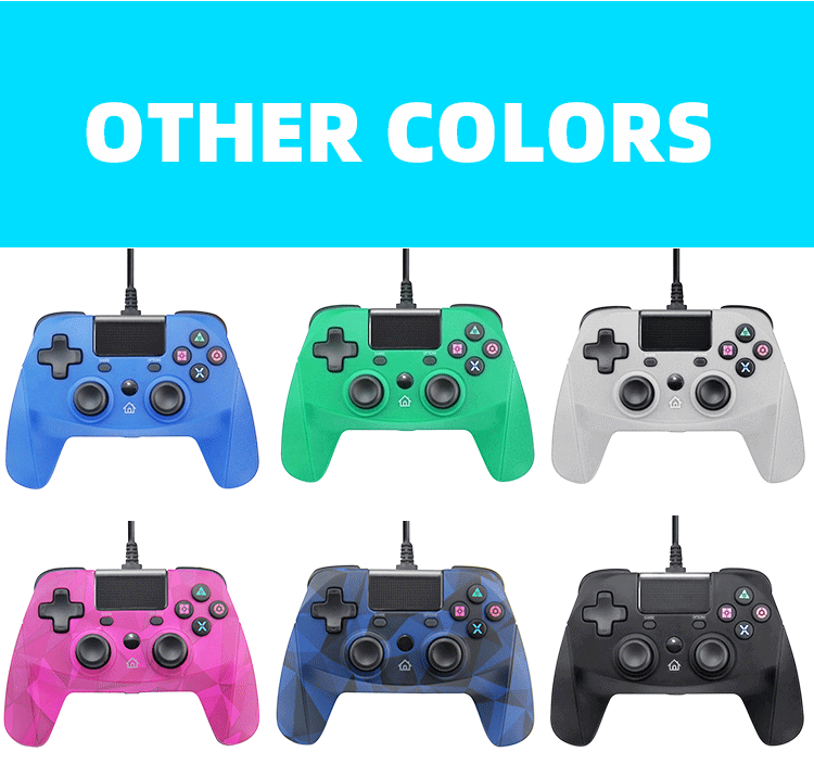 wholesale Touch Pad Wired gamepad For PS4 Wired joystick