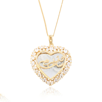 34928 Xuping laseat luxury heart shape pattern pendant gold plated pendant women jewelry