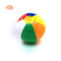 RTS promotional children outdoor fun toys colorful PVC Water play 6 16 inch plastic earth globe Inflatable beach Ball for kids