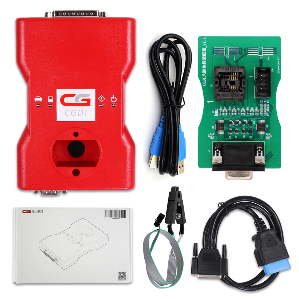 CGDI B/M/W Auto key programmer+ eight pin exempt disassembly Adapter & CGDI B/M/W all 18 functions free open