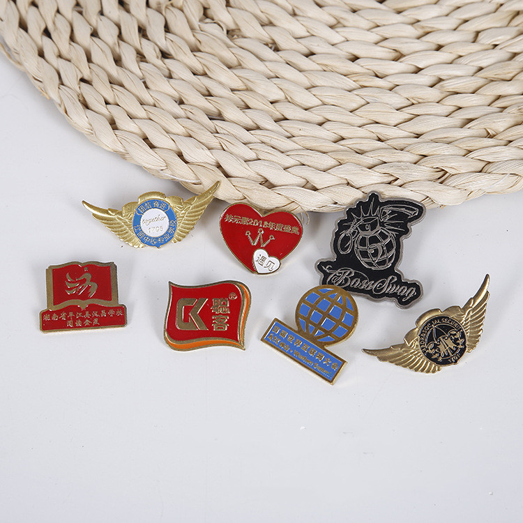 best selling Custom peach shape enamel collar badge/lapel pin