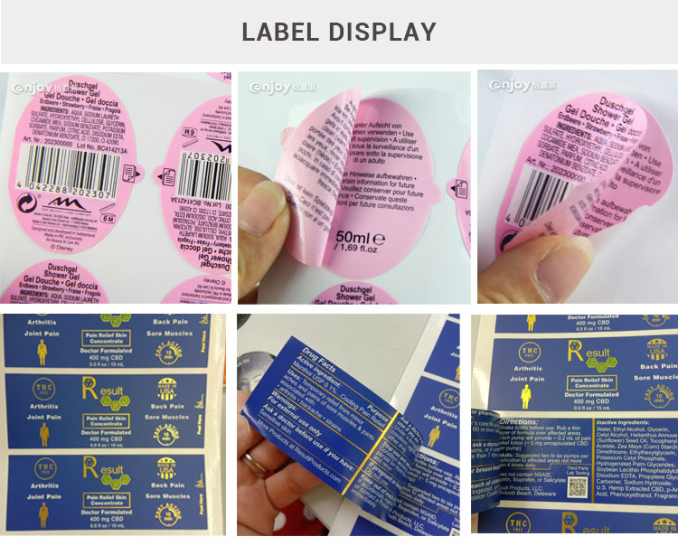 Custom Booklet Multi layers Label Sticker for medicine  Cosmetics