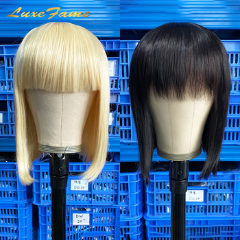 Luxefame Stock For Black Friday 1B/613 Blonde Machine Made Human Hair Wigs 8-14 Inch Glueless Bob Short Wig Black Women