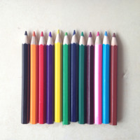 12 Colors 7/3.5 inch Wooden Drawing Charcoal Pencils in Paper Box,Painting Crayon Sketching Pencil Non-toxic School Supplies