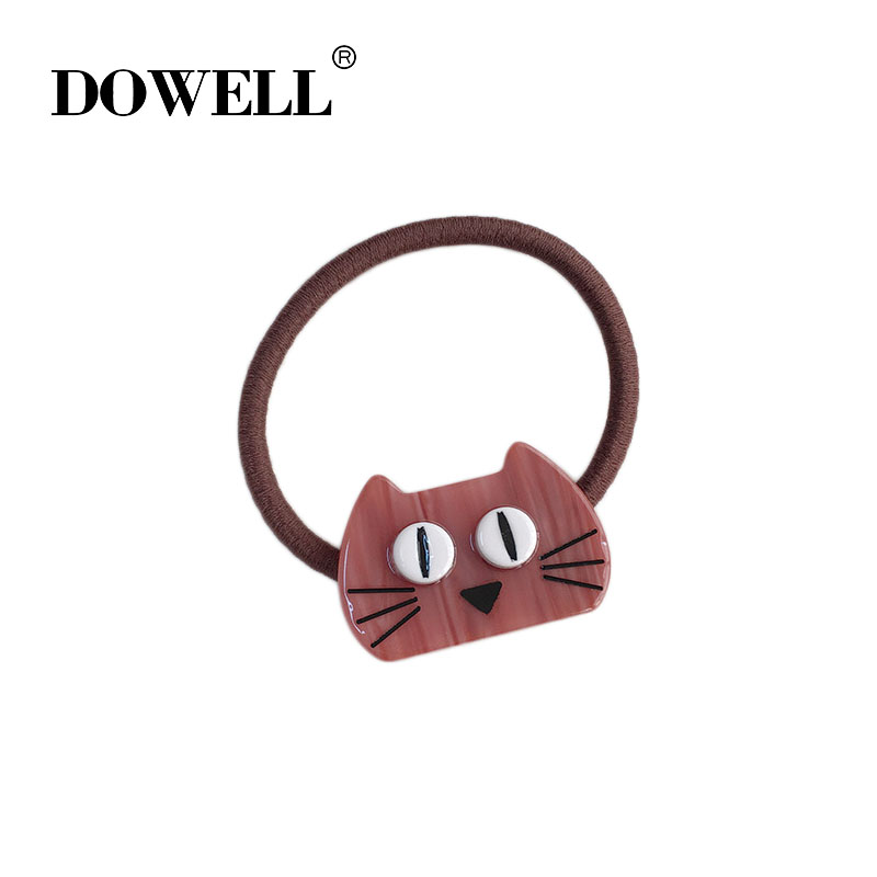wholesale custom girls fashion acetate hair bands The cat head shape hair bands for girls