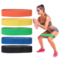 Training Elastic Cotton Hip Circle Resistance Loop Band
